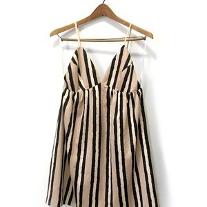 Anthropologie Arroyo backless satin slip dress